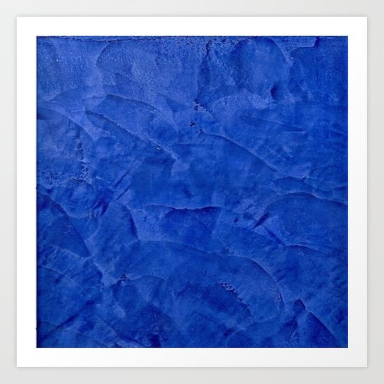 Dark Blue Stucco - Rustic Glam Art Print