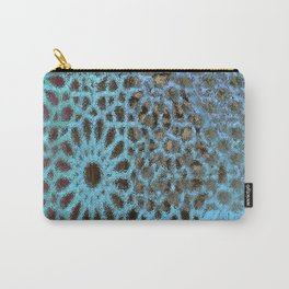 Moroccan Blue Stained Glass effect Carry-All Pouch