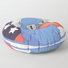 Bernie Sanders as a bird Floor Pillow