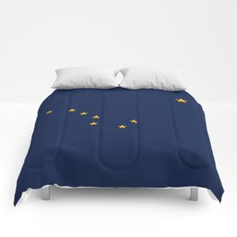 Alaska State Flag, Authentic version Comforters