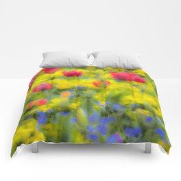 Pastel Summer Flowers  Comforters