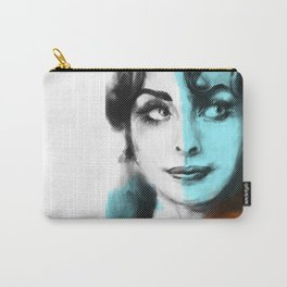 WOMAN ORANGE & BLUE Carry-All Pouch