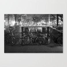 Bike's on the bridge Canvas Print