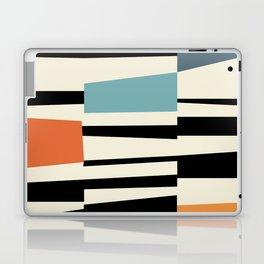 MCC Oddities I - Mid Century Modern Geometric Abstract - Blue Orange Yellow Laptop & iPad Skin
