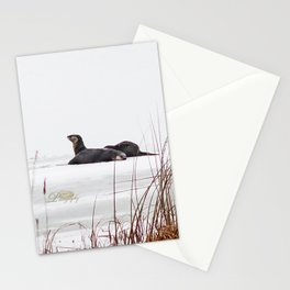 Three Otters Stationery Cards