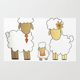 The Sheep Familly Rug
