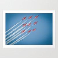 RAF Red Arrows #1 Art Print