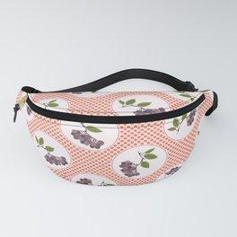 Cute aronia berries polka dot illustration Fanny Pack