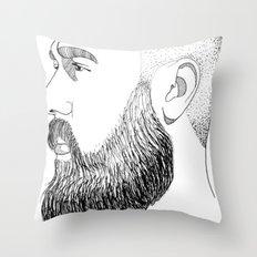 beard gold Throw Pillow