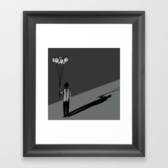 The Black Balloon Framed Art Print