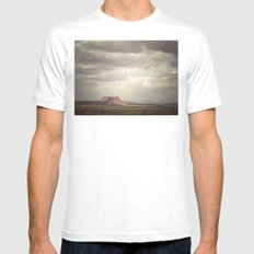 Utah White Mens Fitted Tee MEDIUM