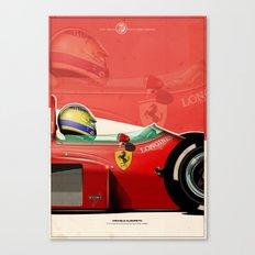 Michele Alboreto - F1 1985 Canvas Print