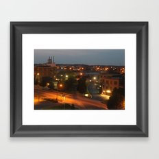 Holland, Michigan At Night Framed Art Print