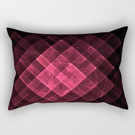 Red geometric fractal with many squares. Rectangular Pillow