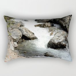 """Where the Mighty Uncompahgre River is But a """"Trickle"""" Rectangular Pillow"""