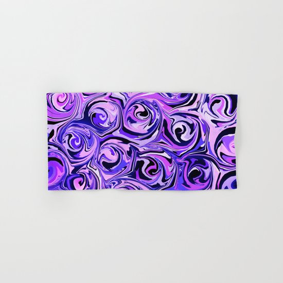 Violet and Lilac Paint Swirls by abstractcolor