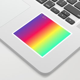 rainbow abstract Sticker