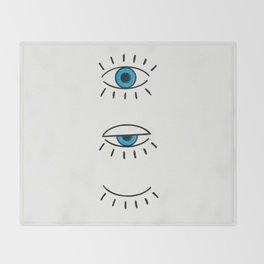 Summer Evil Eyes Throw Blanket