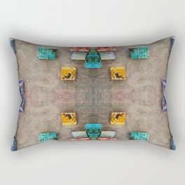 Toppled Ceramic Tiling 2 Rectangular Pillow