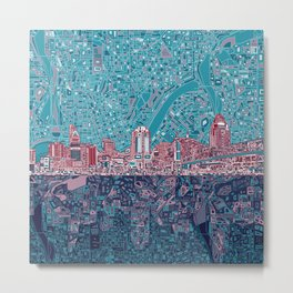 cincinnati city skyline Metal Print