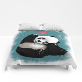 Panda Love (Color) Comforters
