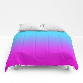 blue pink love Comforters