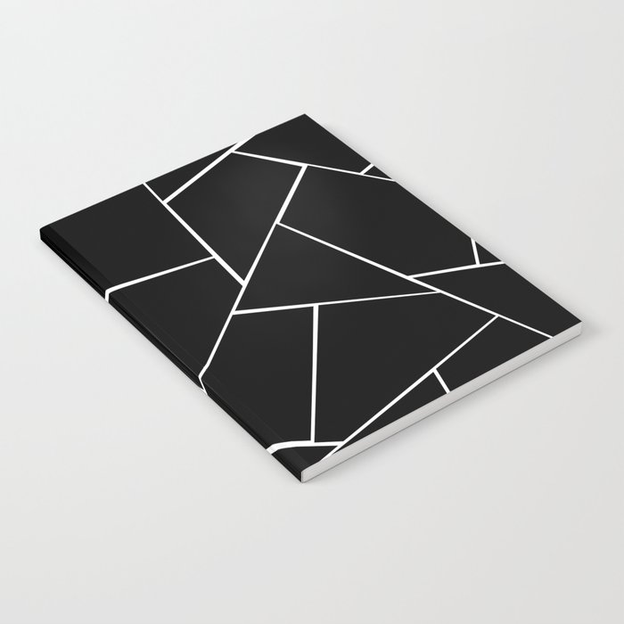 Black White Geometric Glam #2 #geo #decor #art #society6 Notebook