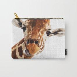 Giraffe Portrait // Wild Animal Cute Zoo Safari Madagascar Wildlife Nursery Decor Ideas Carry-All Pouch