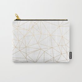 Geometric Gold Minimalist Design Carry-All Pouch
