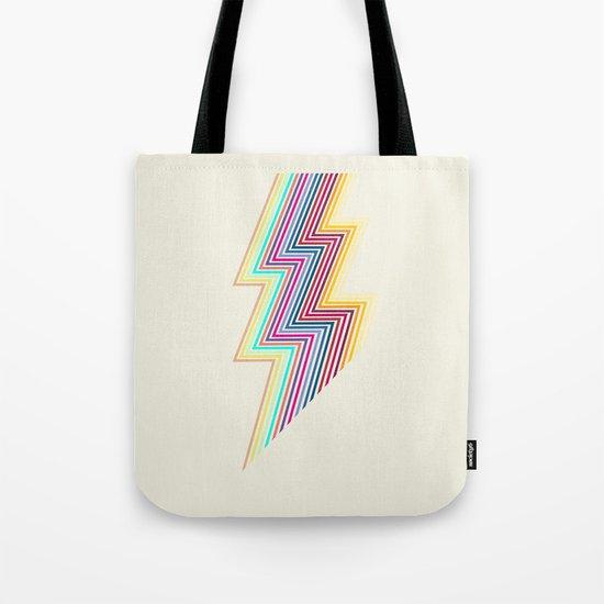 80's lightning Tote Bag