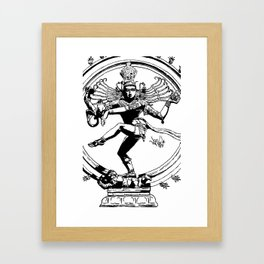 Natraj Dance - Mono Framed Art Print