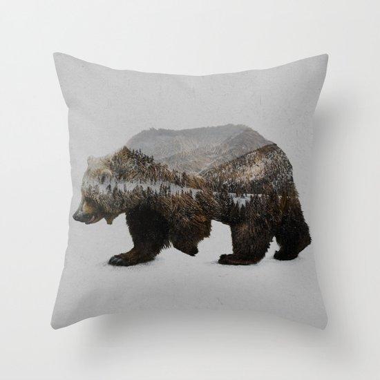 The Kodiak Brown Bear Throw Pillow