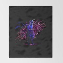 Sakura Samurai Throw Blanket