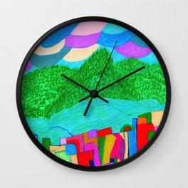 The Forcast for Today, Looks Bright. Have a Good One! Wall Clock
