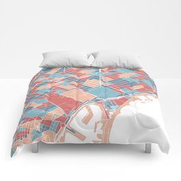 Colorful Barcelona map Comforters