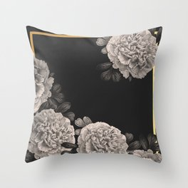 Flowers on a winter night Throw Pillow