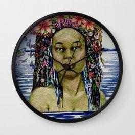 Yemaya, Goddess of the Sea Wall Clock