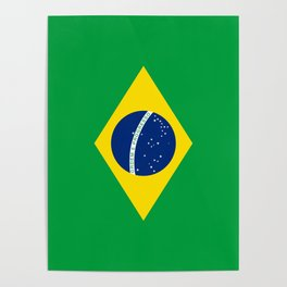 Brazilian National flag Authentic version (color & scale) Poster