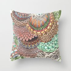 Quilted Forest: The Ram Throw Pillow
