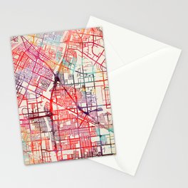 Norwalk map California painting Stationery Cards