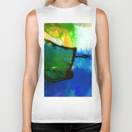 Abstract Bliss 4I by Kathy Morton Stanion Biker Tank