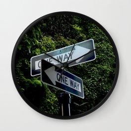 one way Wall Clock