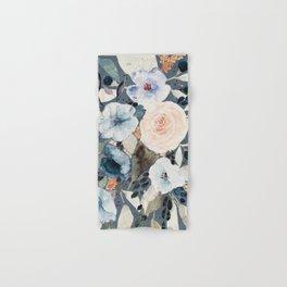 Loose Watercolor Bouquet on Blue Hand & Bath Towel