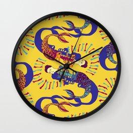 Sirenas - Gold - Beautiful Bones Wall Clock