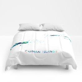 Cayman Islands Map Comforters