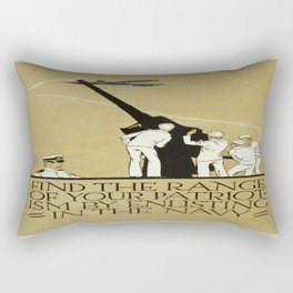 Vintage poster - Enlist in the Navy Rectangular Pillow
