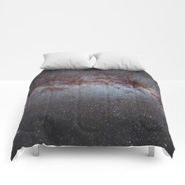 North America Nebula: the Milky way, from Cygnus to Perseus and Andromeda galaxy. Comforters