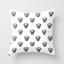 Basketball Motif Print Pattern Throw Pillow