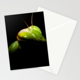 Portrait of praying mantis Stationery Cards