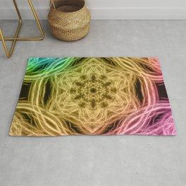 Elegant rainbow kaleidoscopes Rug